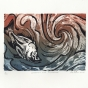 I. Horn, Boar fish and whirlpool, 2016, vinyl and EVA print
