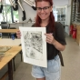 Lizzie  Azzopardi REACH Young Creative, mentored by Bronwyn Rees AiR at InkMasters Print Workshop