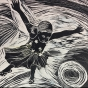 S. Victoire, Fall, 2016, relief print