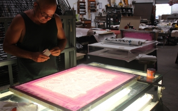 Silkscreen printing workshop at Inkmasters Cairns 9/10 Dec 2107