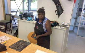 Inkmasters Print Workshop, 55 Greenslopes Street Cairns, Heather Koowootha