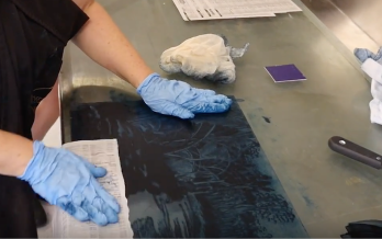 InkMasters Print Workshop Introduction to Screenprinting Hannah Parker Tutor